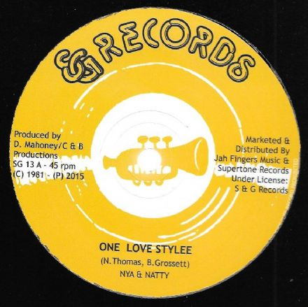 Nya & Natty- One Love Stylee / Desmond Rhythm Section - Version (S&G / Jah Fingers) UK 12""